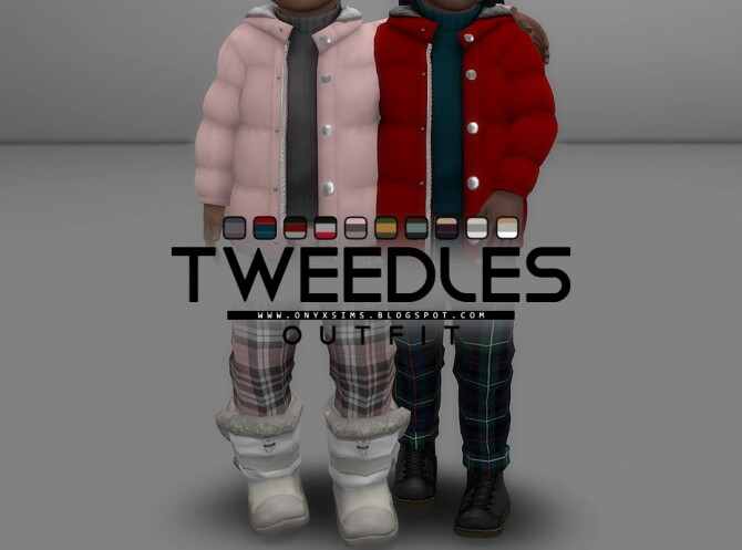 Sims 4 Tweedles Outfit at Onyx Sims