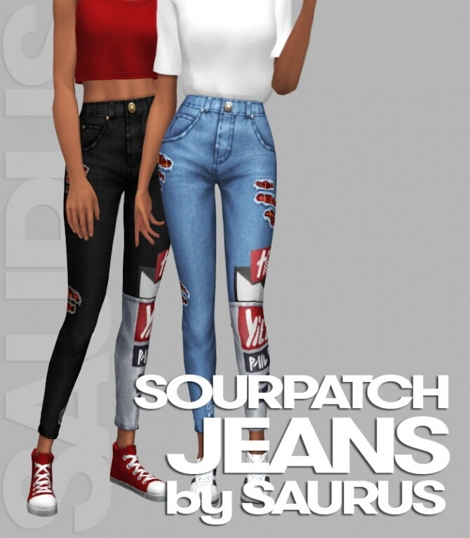 Sims 4 Sourpatch Jeans at Saurus Sims
