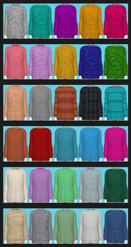 Sims 4 Snowy Escape Knitted Sweater at Annett's Sims 4 Welt