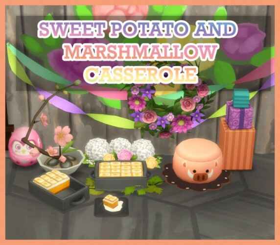 SWEET POTATO AND MARSHMALLOW CASSEROLE