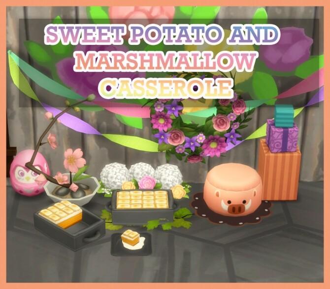 SWEET POTATO AND MARSHMALLOW CASSEROLE at Icemunmun image 2545 670x586 Sims 4 Updates