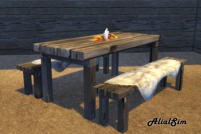 Sims 4 Picnic Table at Alial Sim