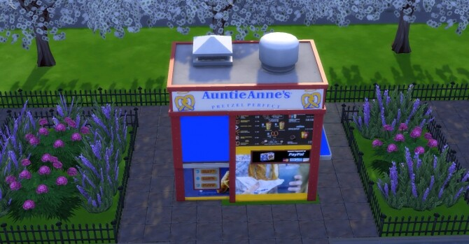 Sims 4 Auntie Annes coffee and pastry stand by ArLi1211 at Mod The Sims