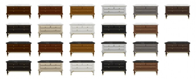 Sims 4 Glam Upcycled Dresser at SimPlistic