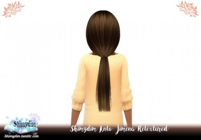 Sims 4 Anto Jimena Hair Retexture + Child at Shimydim Sims