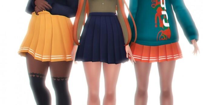 Sims 4 Freezing legs skirt at Simandy