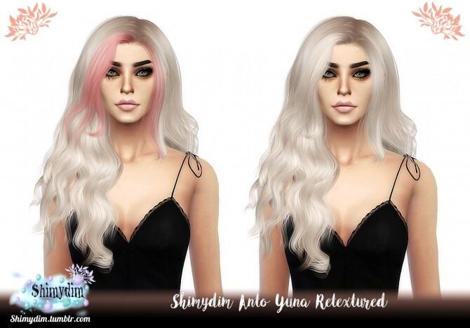 Sims 4 Anto Yuna Hair Retexture at Shimydim Sims