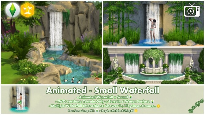 Animated Small Waterfall by Bakie at Mod The Sims image 2616 670x377 Sims 4 Updates