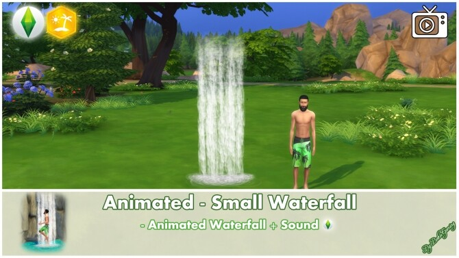 Animated Small Waterfall by Bakie at Mod The Sims image 2621 670x377 Sims 4 Updates