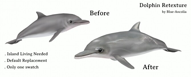 Sims 4 Dolphin retexture at Blue Ancolia