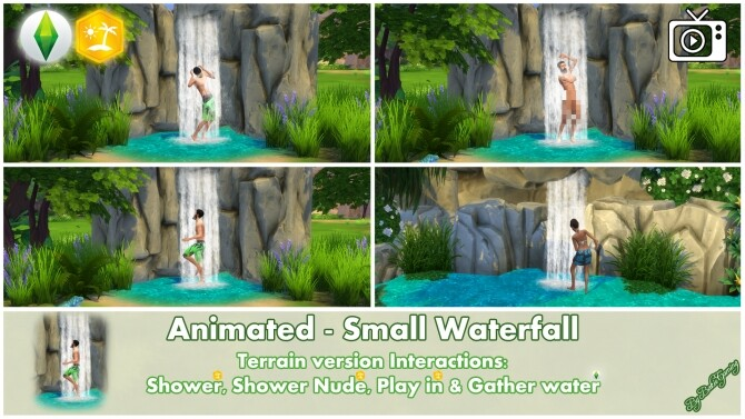 Animated Small Waterfall by Bakie at Mod The Sims image 2632 670x377 Sims 4 Updates