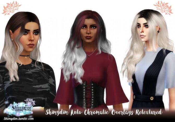 Sims 4 Anto Chromatic Overlays Hair Retexture at Shimydim Sims