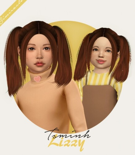 Tsminh Sims Lizzy hair for kids toddlers