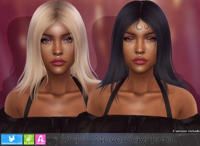 Sims 4 J249 NeverSayNever hair (P) at Newsea Sims 4