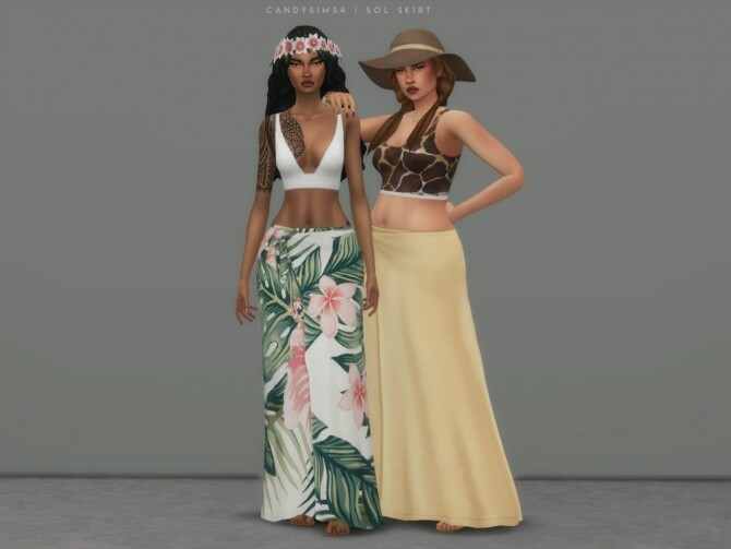 Sims 4 SOL SKIRT at Candy Sims 4