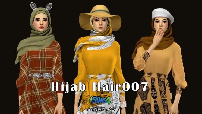 Sims 4 Hijab Model 078 & Hair 007 & Lenna Long dress at Aan Hamdan Simmer93