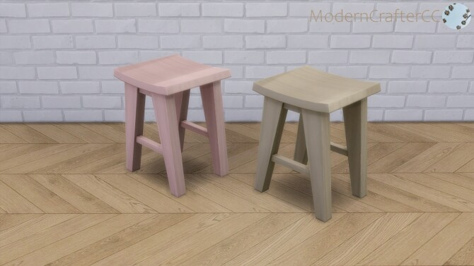 Sims 4 Sleek Juice Barstool Recolour Set at Modern Crafter CC