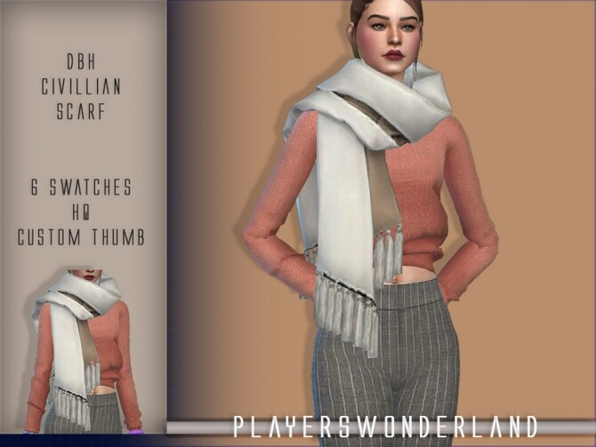 DBH Civilian Scarf by PlayersWonderland at TSR image 2713 670x503 Sims 4 Updates