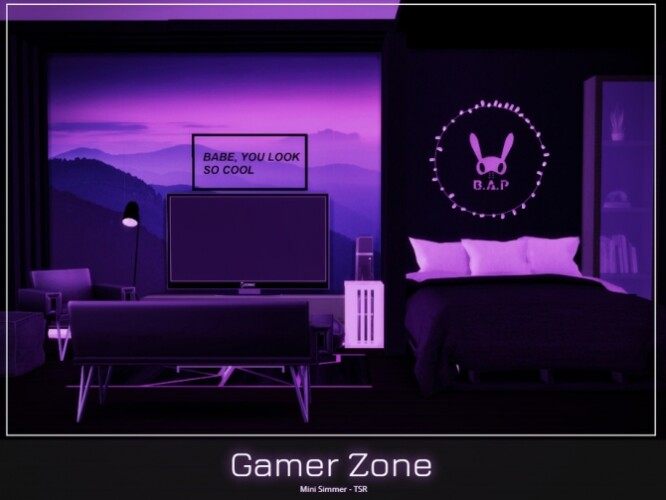 Gamer Zone Bedroom by Mini Simmer