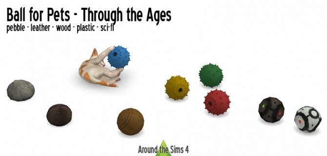 Sims 4 Balls for pets through the Ages at Around the Sims 4