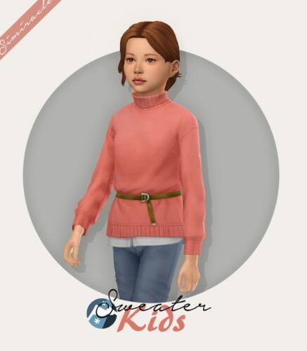 Sweater With Belt Kids Version
