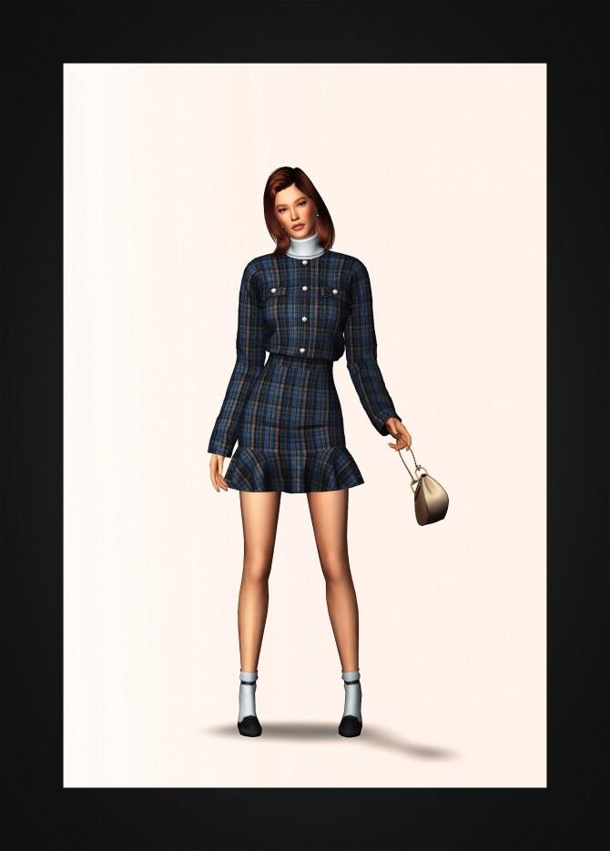 Sims 4 Two Piece Sweater Dress & Turtleneck at Gorilla