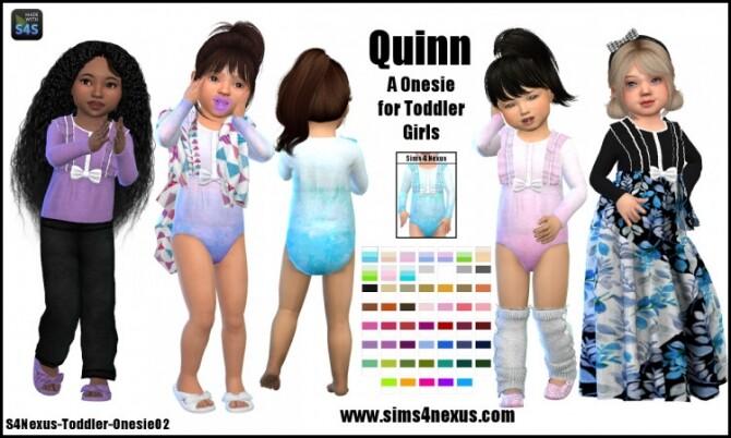 Sims 4 Quinn onesie by SamanthaGump at Sims 4 Nexus