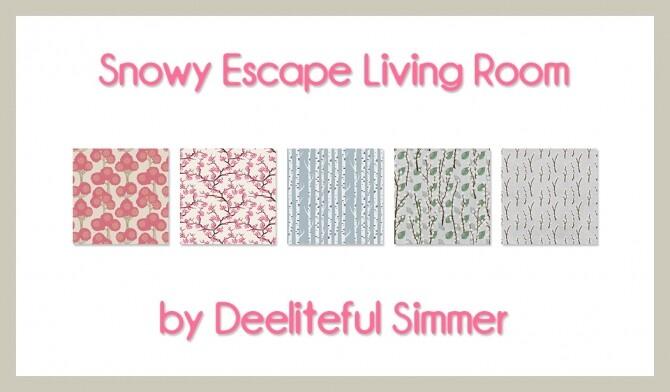 Snowy Escape living room recolors