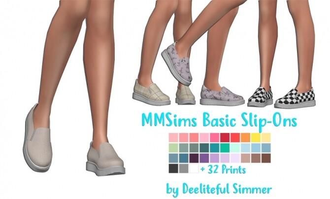 Sims 4 MMSims basic slip on recolors at Deeliteful Simmer