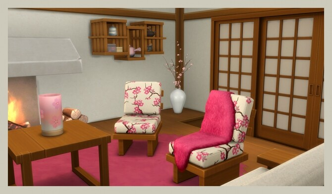 Sims 4 Snowy Escape living room recolors at Deeliteful Simmer