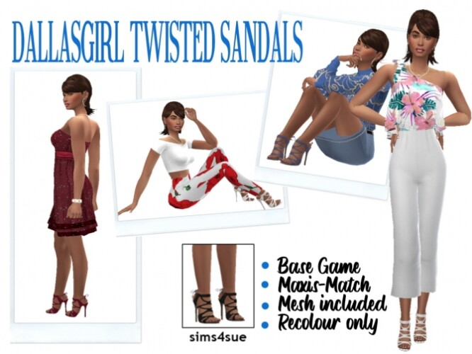 DALLASGIRLS TWISTED SANDALS