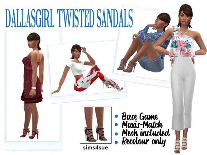 DALLASGIRL'S TWISTED SANDALS at Sims4Sue image 2793 670x503 Sims 4 Updates