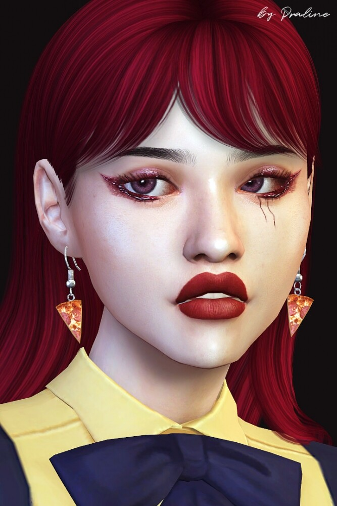Sims 4 Culinaria Food Themed Earring Set at Praline Sims