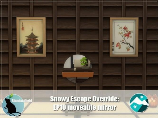 Snowy Escape Moveable Mirror Override