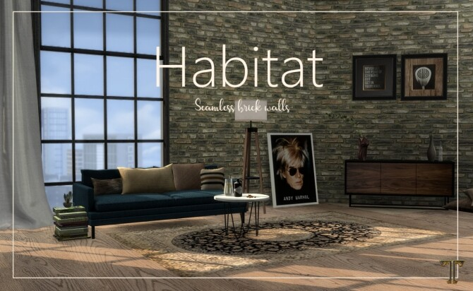 Habitat seamless brick walls