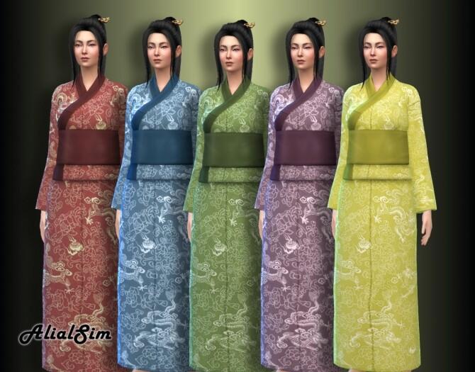 Sims 4 Yukata outfit at Alial Sim