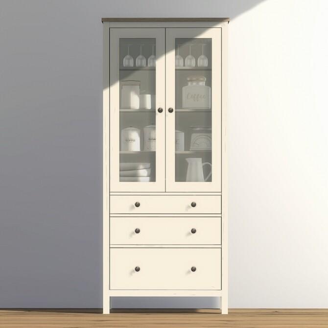 Sims 4 Hemnes Glass Door Cabinet at Heurrs