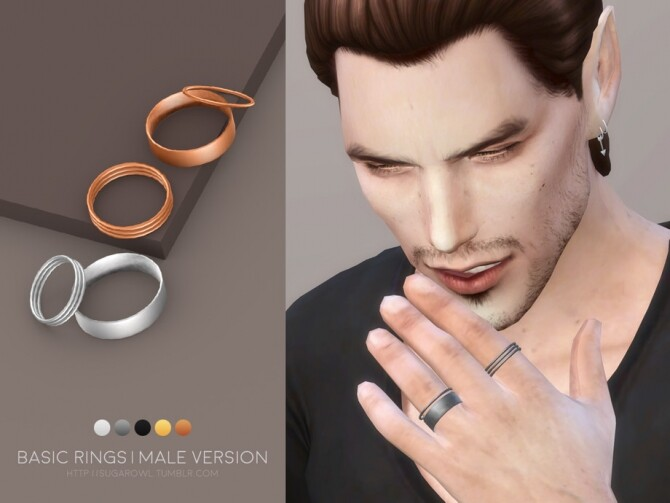 Sims 4 Basic rings Male version by sugar owl at TSR