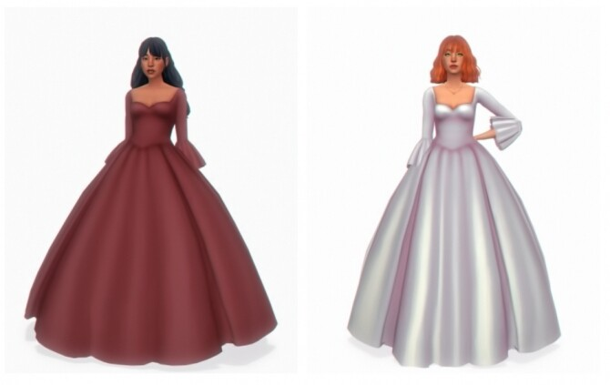 Sims 4 Adara gown at Simandy