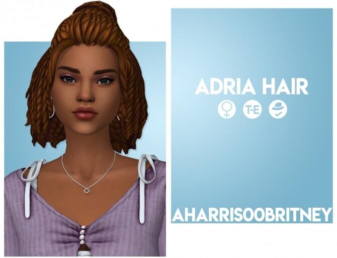 Sims 4 Adria Hair at AHarris00Britney
