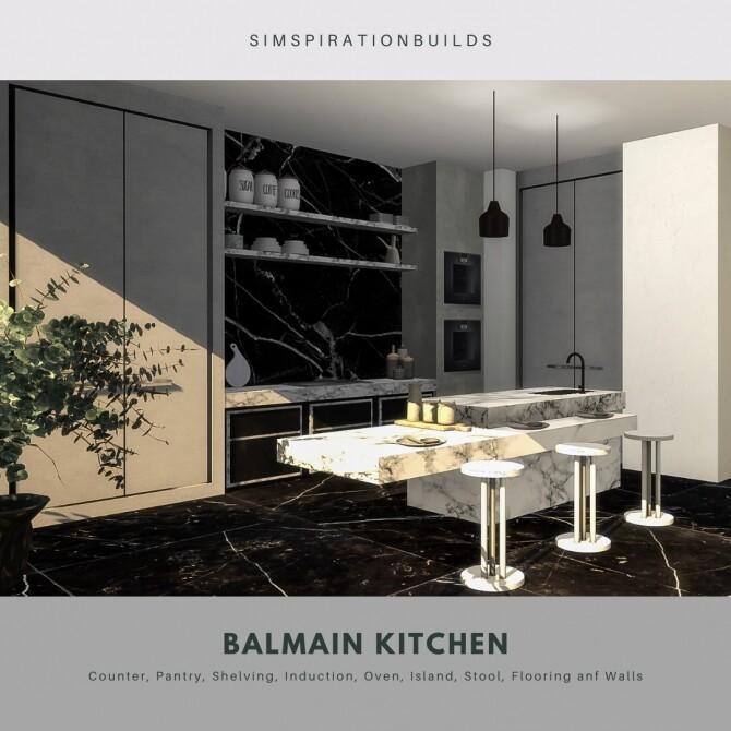 Sims 4 Balmain kitchen at Simspiration Builds