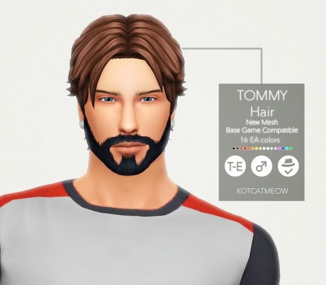 Sims 4 Tommy Hair at KotCatMeow