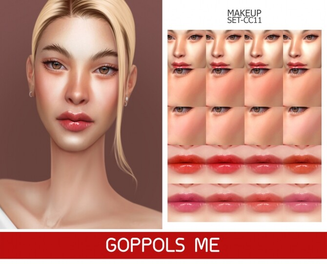 Sims 4 GPME GOLD MAKEUP SET CC11 at GOPPOLS Me