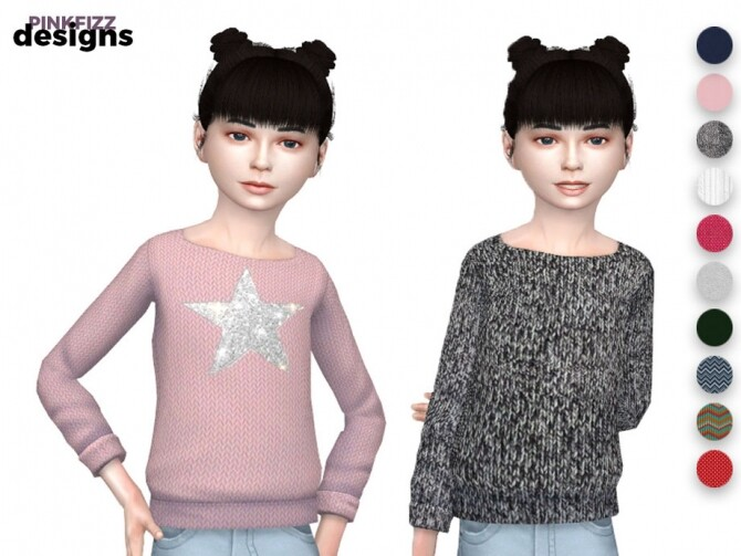 Sims 4 Junior Wool Jumper by Pinkfizzzzz at TSR