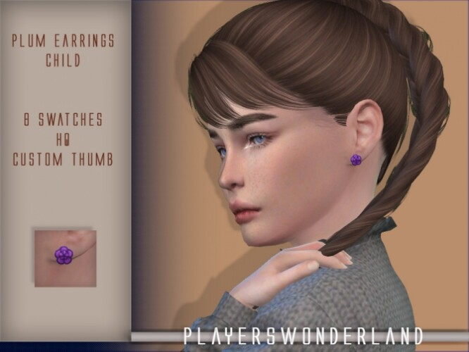 Plum Earrings CHILD by PlayersWonderland