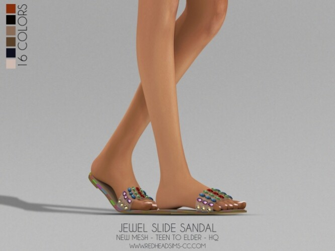 JEWEL SLIDE SANDALS