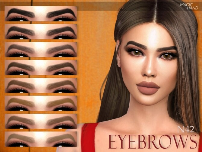 Sims 4 Eyebrows N42 by MagicHand at TSR