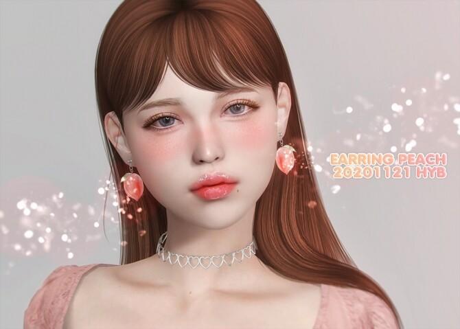 Sims 4 PEACH EARRINGS at Hayanbom