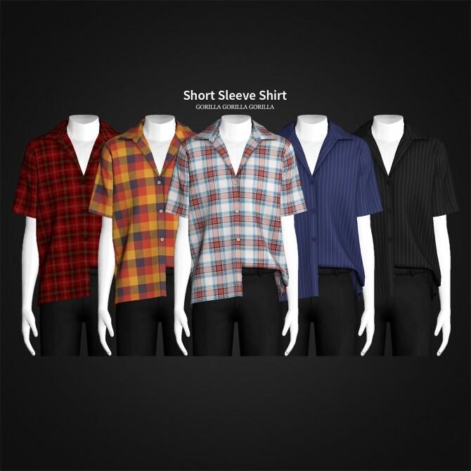 Short Sleeve Shirt at Gorilla image 306 670x670 Sims 4 Updates