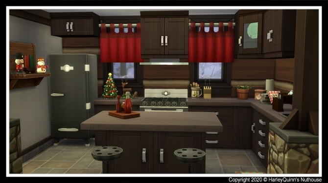 Sims 4 Christmas Cabin at Harley Quinn's Nuthouse